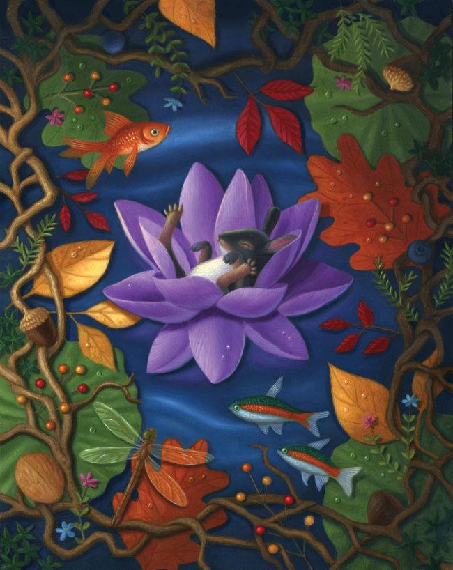 Gina Matarazzo sleeping fish painting