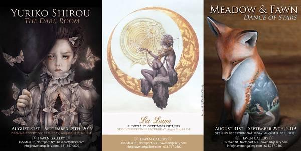 Yuriko Shirou, Meadow & Fawn, La Lune II at Haven Gallery