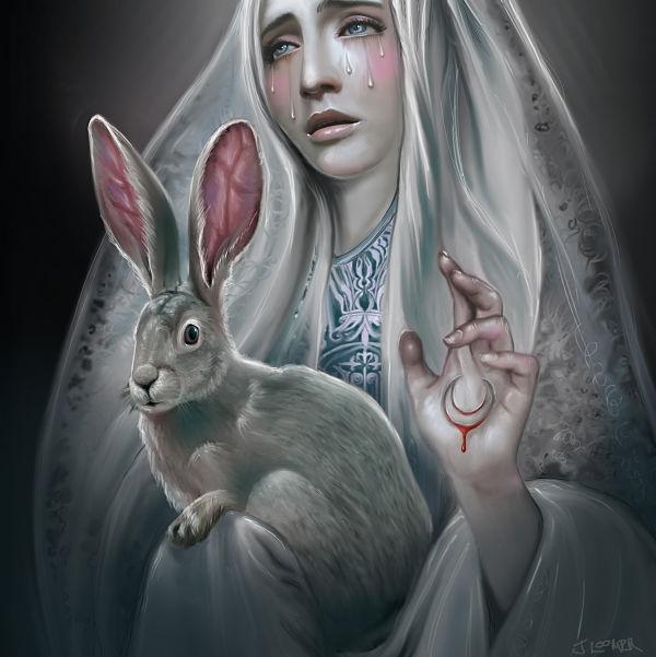 Juliana Loomer bunny digital painting
