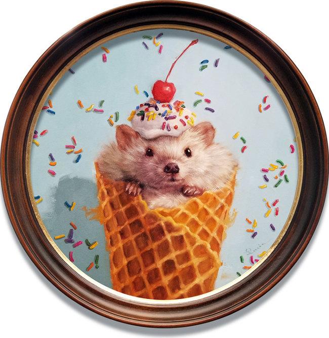 Lucia Heffernan hedgehog ice cream painting
