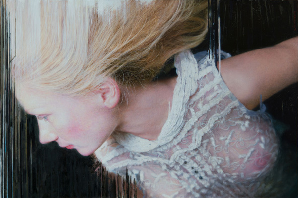 Viktoria Savenkova - Drop painting blonde girl realistic painting
