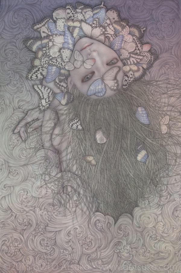Atsuko Goto pop surreal Butterfly Girl