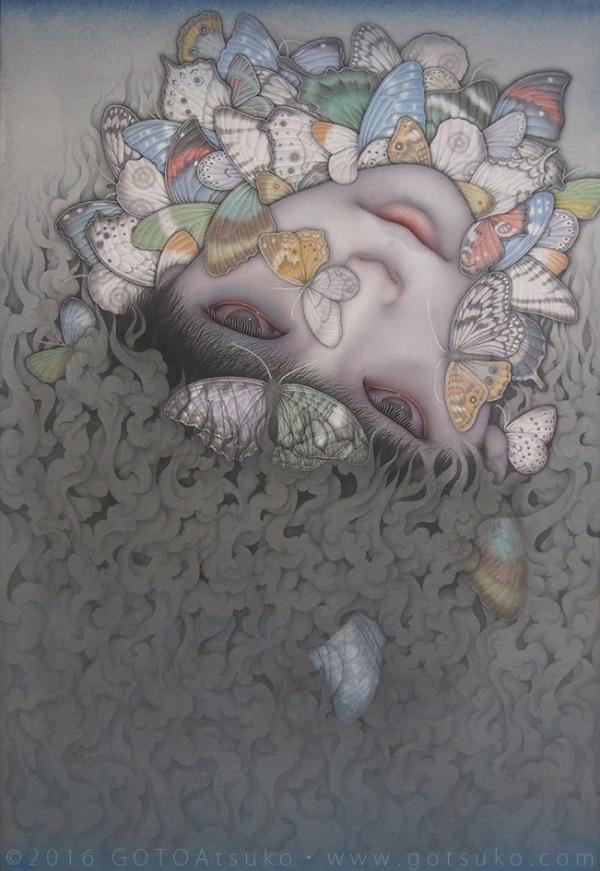 Atsuko Goto butterfly boy painting