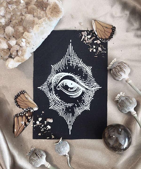 eye screenprint artist Nickas Serpentarius
