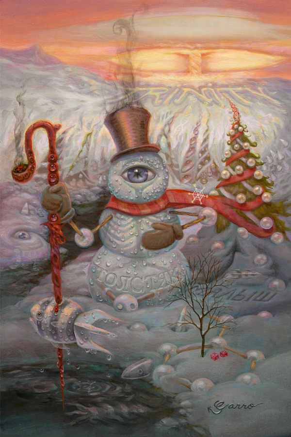 Mark Garro Fatman surreal winter painting