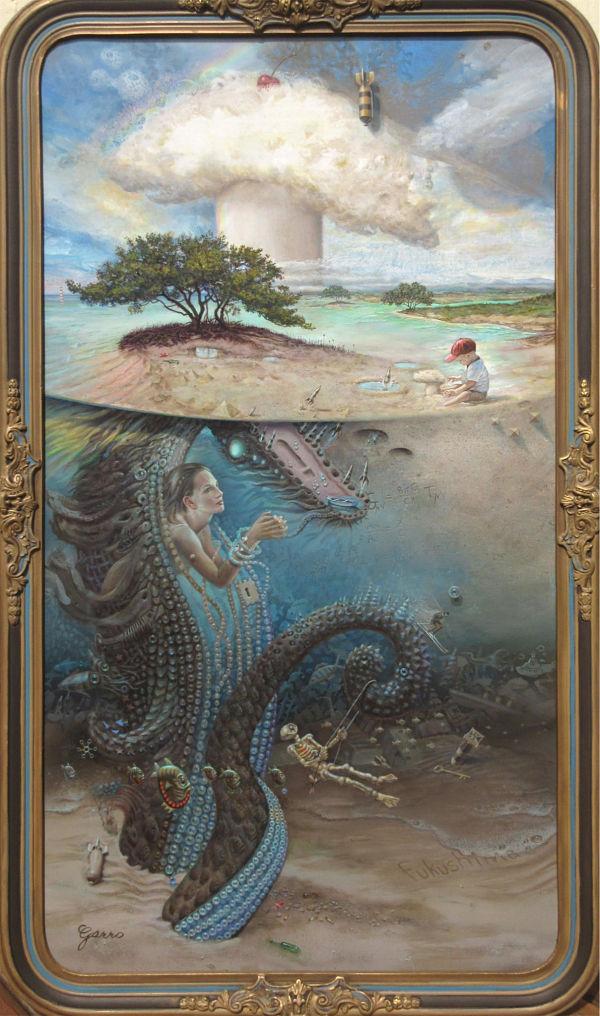 Mark Garro Lesser Godzilla painting
