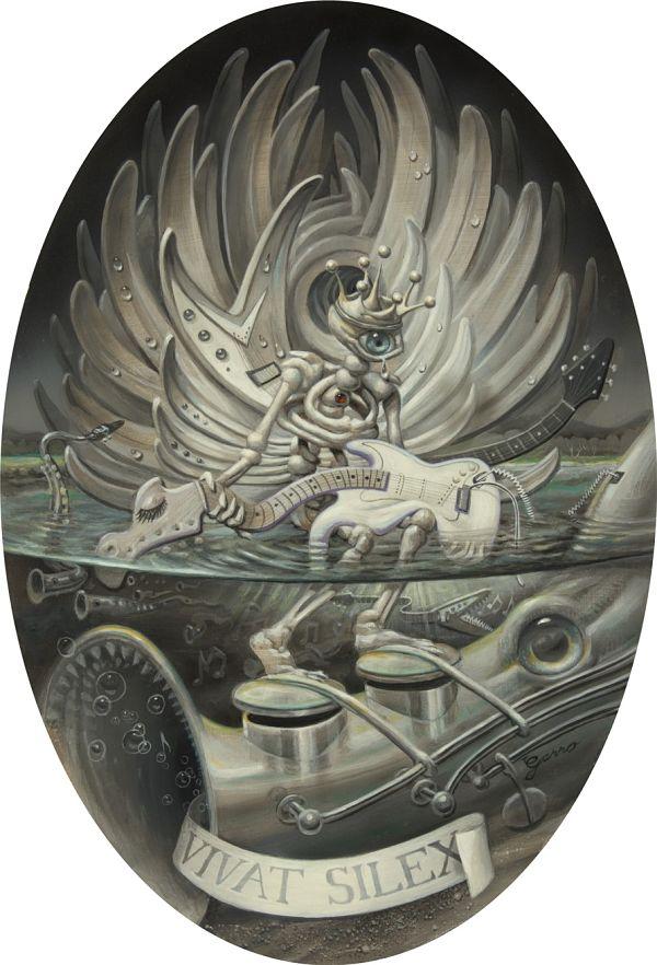 Mark Garro Rock is Dead new contemporary art painting