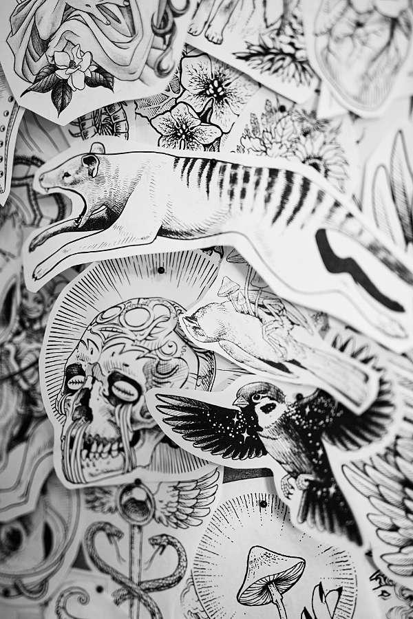 tattoo illustration artist Nickas Serpentarius