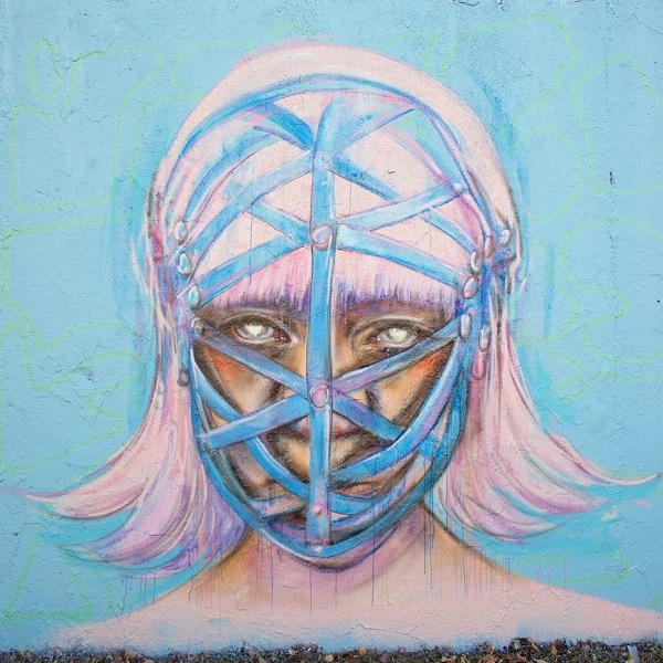 Anne Bengard Woman Mask Mural