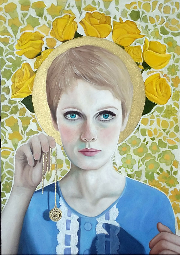 Ellie Williams Rosemarys Baby Mia Farrow painting
