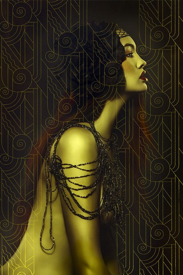 Lori Cicchini surreal gold portrait photography