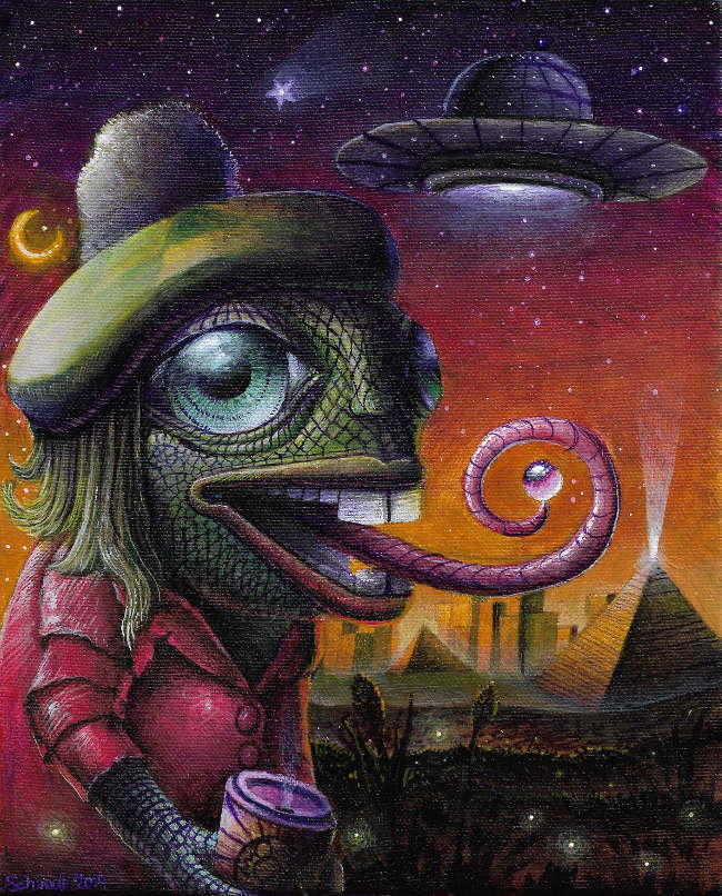 Ricky Schaede psychedelic reptile UFO