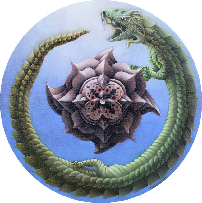 Ricky Schaede dragon painting