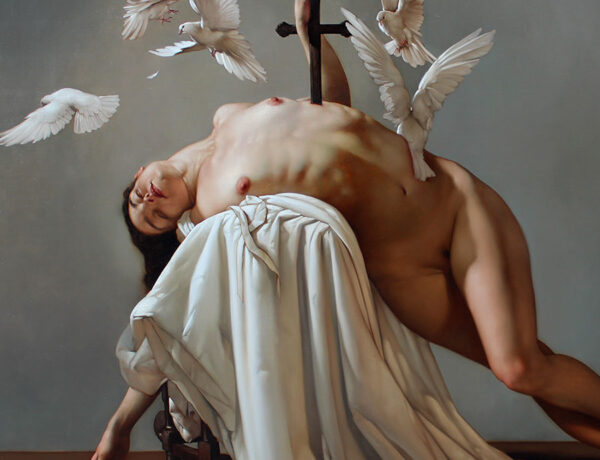 Nude dark surreal painting by Roberto Ferri