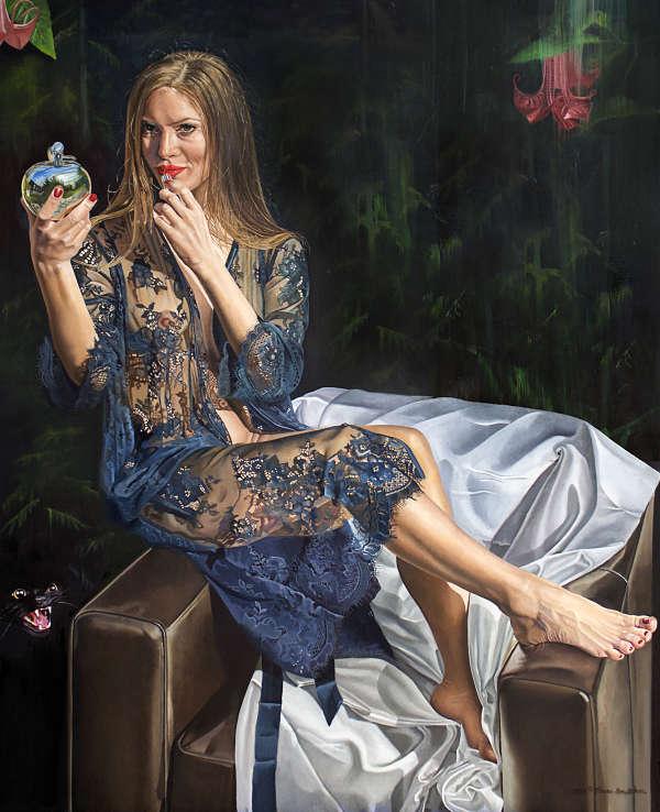 Teresa Brutcher Snow White The Fairest of Them All figurative painting