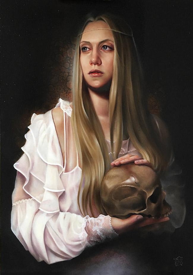 erica calardo painter et omnia vanitas skull