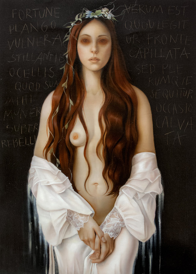 erica calardo painter fortuna fragilis hair figurative art