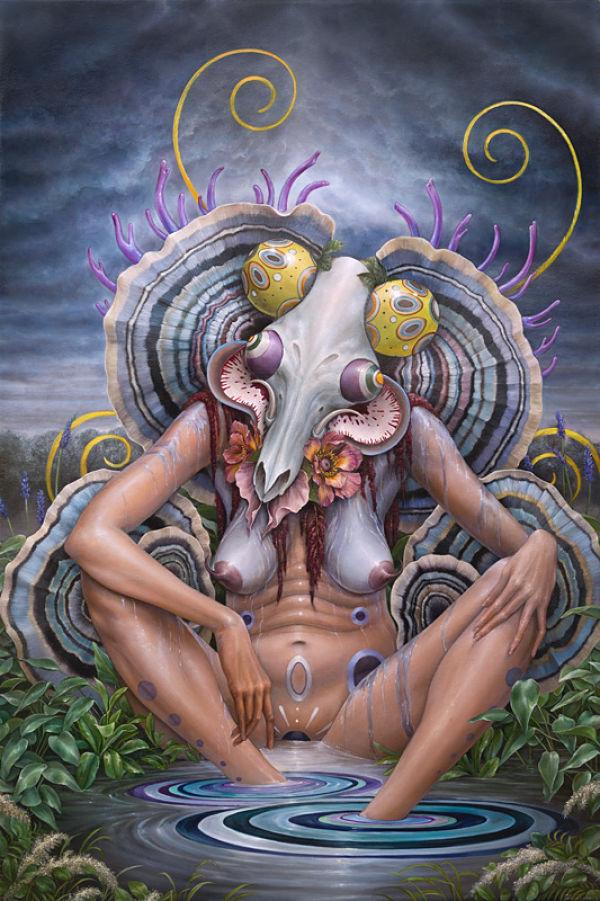 Hannah Yata fantasy nude painting