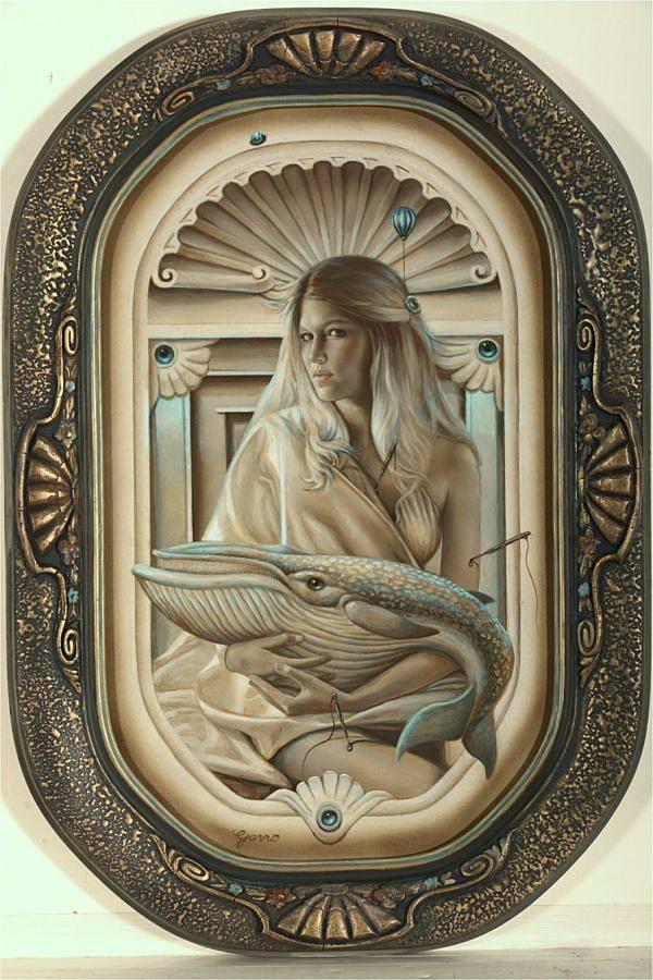 Mark Garro Blue Painting trompe l'oeil