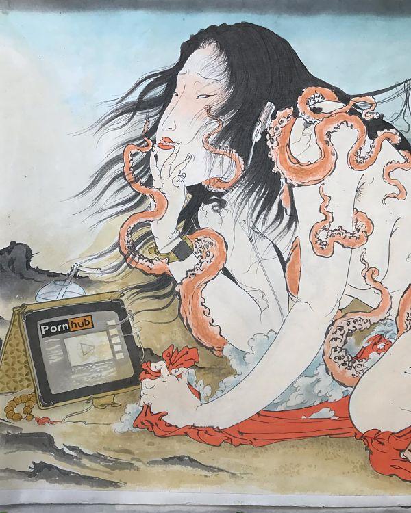Teresa Sharpe take over Mike Dorsey hentai illustration