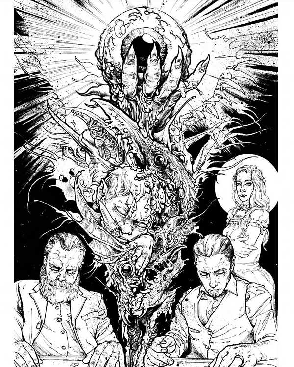 Teresa Sharpe take over Mike Moses comic illustration