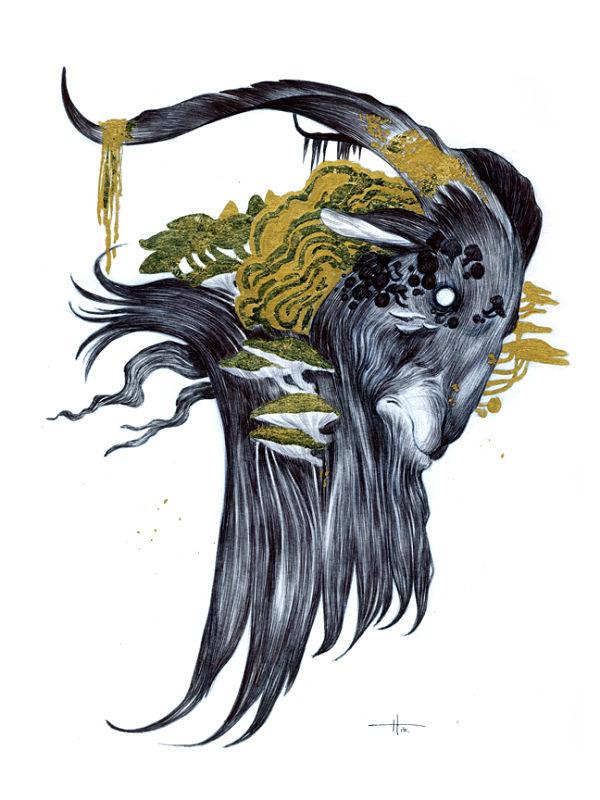 Teresa Sharpe take over Natalie Hall goat illustration