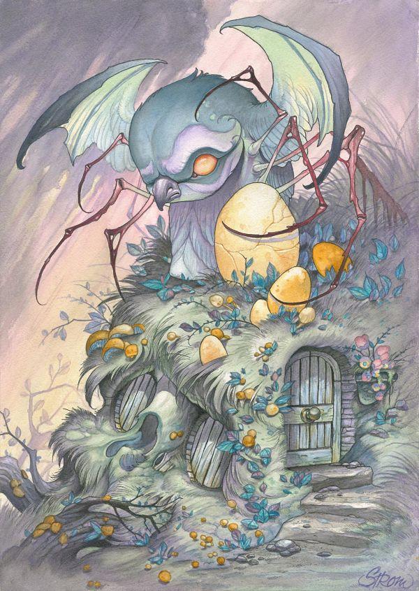Teresa Sharpe take over Tom Strom bird illustration