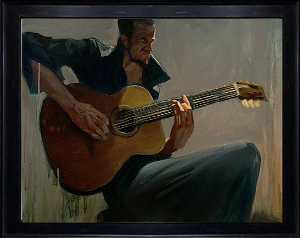 "Gabe Leonard ""Darkest of Night"" Johnny Cash painting"