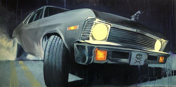 Gabe Leonard Death Proof car painting
