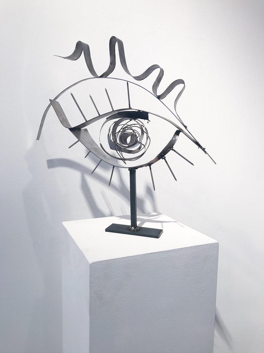 Indira Cesarine eye sculpture