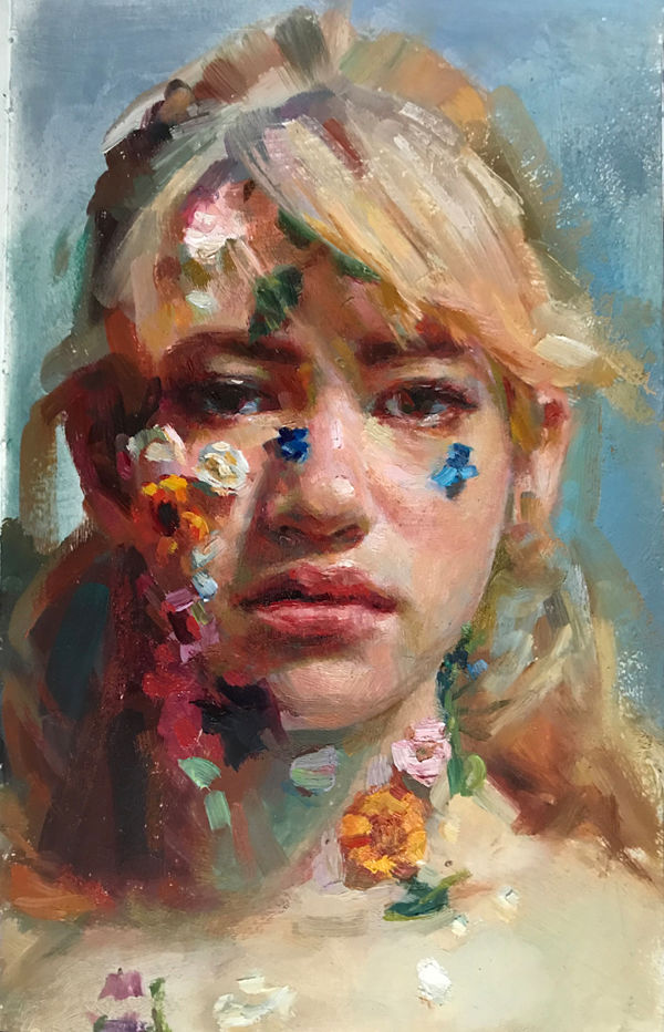 Jenna Anderson Inside Out flower portrait painting