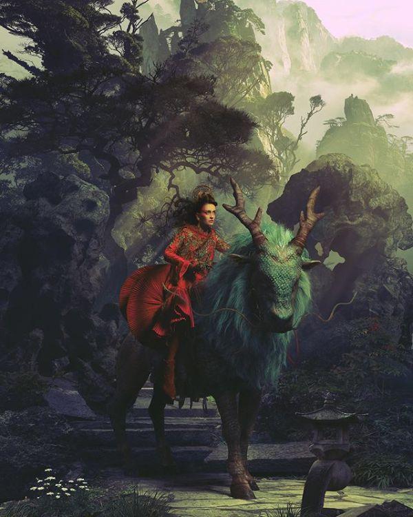 Miss Aniela Natalie Lennard Woman Mythical Beast Photograph