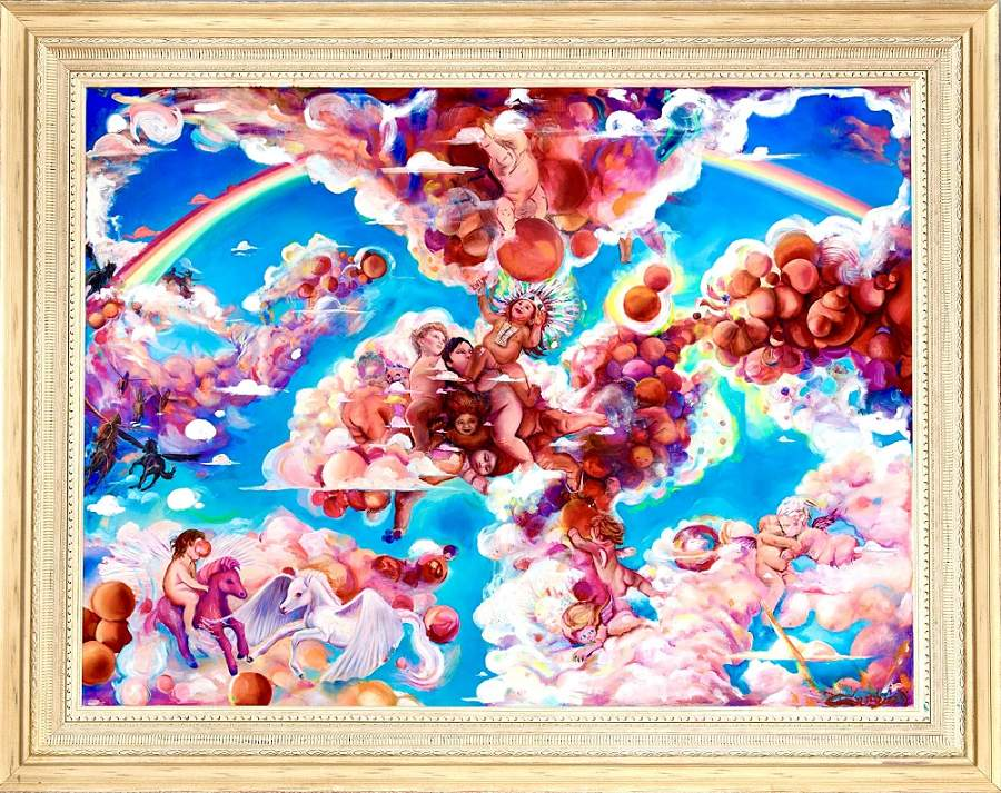 Sergio Barrale surreal angel cloud painting