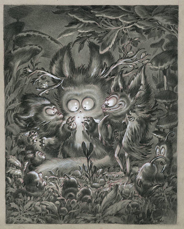 "Stan Manoukian ""Firefly""graphite & acrylics illustration at Haven Gallery"