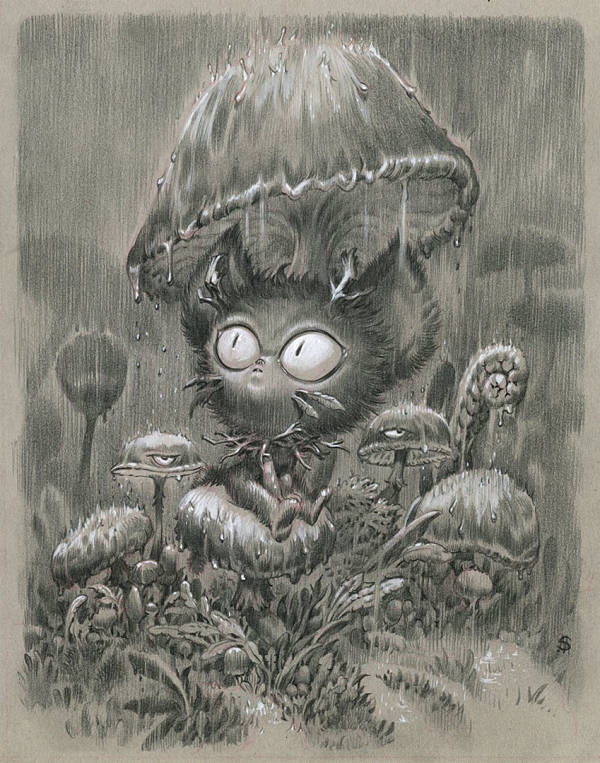 "Stan Manoukian ""Rainy Night"" surreal creature illustration"