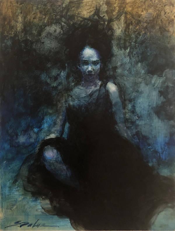 """Steven DaLuz """"The Black Dress"""" dark art"""