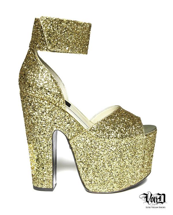 Kat Von D Von D Shoes stripper vegan gold heels