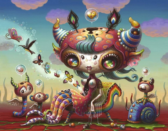 Yoko D'Holbachie pop surreal creature artwork - What are the Top 5 Do's and Don'ts for Artists Working with Galleries?