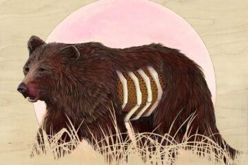 bear painting by brianna reagan new contemporary art pop surrealism