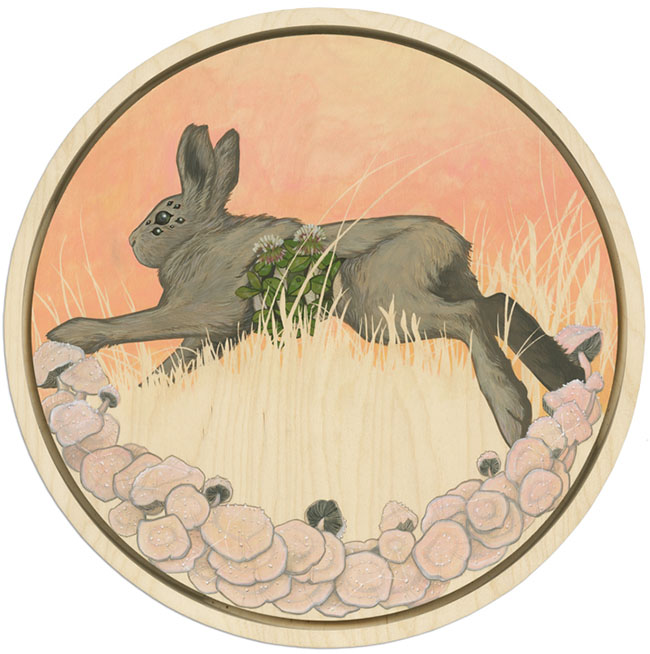 Brianna Reagan surreal rabbit painting