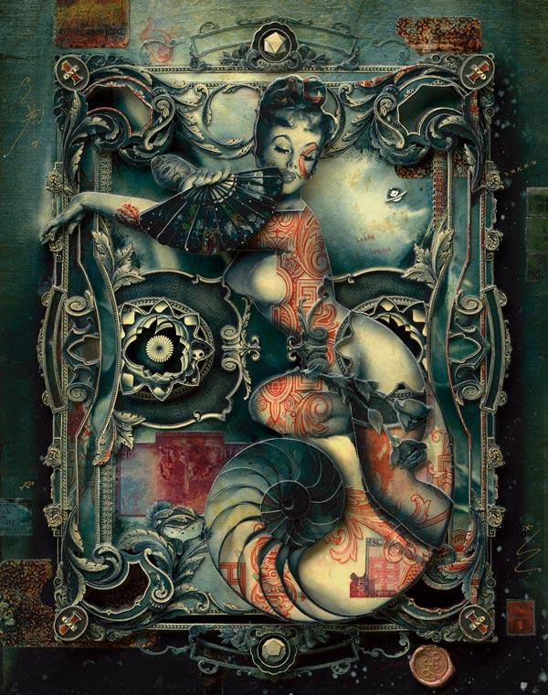 Handiedan pin-up mermaid collage