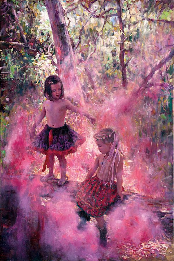 Natalia Fabia magic forest oil painting