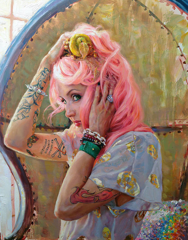 Natalia Fabia self portrait oil painting