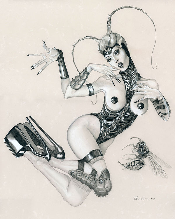 Ulorin Vex bdsm drawing latex