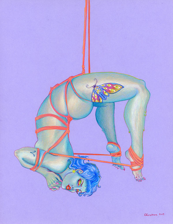 Ulorin Vex bdsm drawing shibari