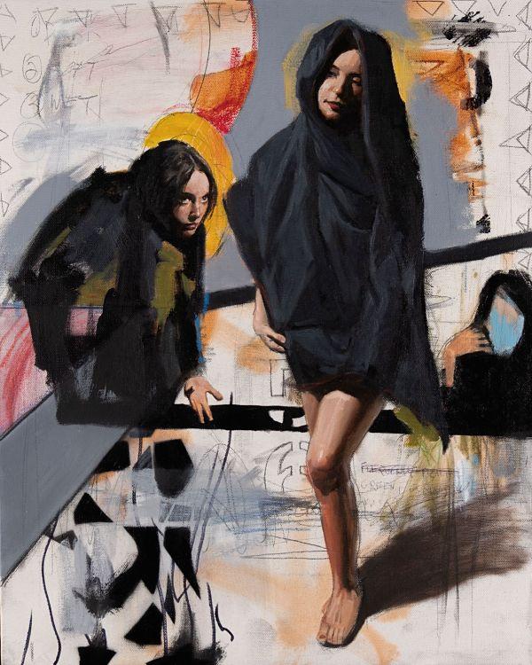 """Modern Eden Gallery Adam Caldwell """"Tenebrae"""" painting"""