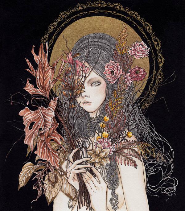 Andi Soto Saudade surreal goddess painting