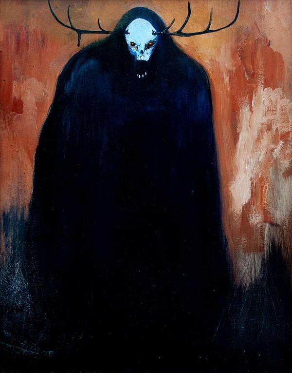 Jody Fallon DropTine dark mutations creature painting