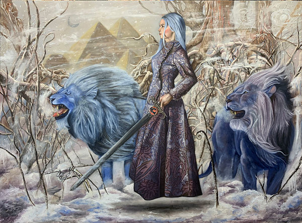 Joseph Weinreb surreal winter painting Modern Eden x Haven exhibition