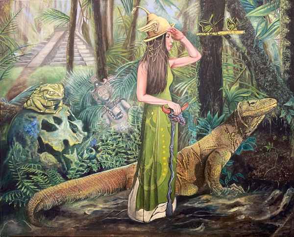 "Joseph Weinreb ""The Quest"" surreal painting Modern Eden x Haven exhibition"